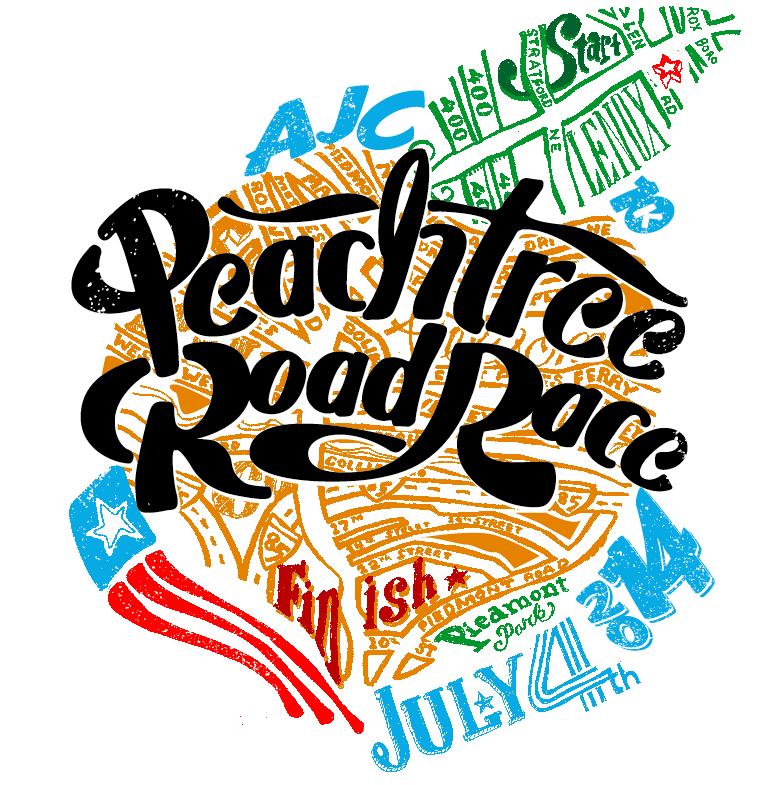 2014 Peachtree Road Race T Shirt Design Finalists