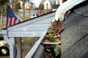 clogged gutters and downspouts