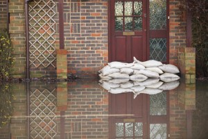reentering a flooded house