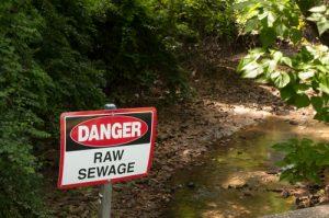 raw sewage danger