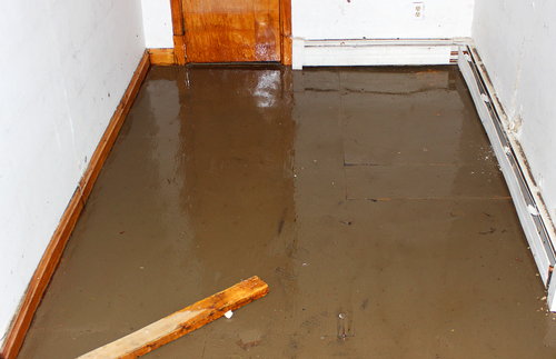 How to clean basement concrete floor after flood home for Clean oil off concrete