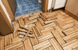 flooring damaged from flood