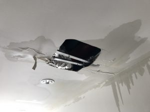 water damage after a roof leak