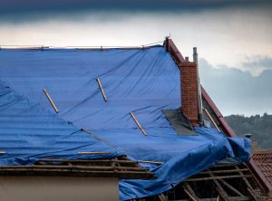 tarping a roof