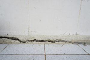 water damage foundation cracks