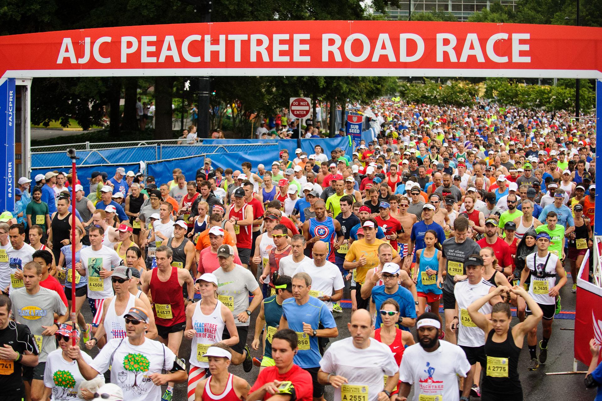2016 ajc peachtree road race wwwajccom for The peachtree