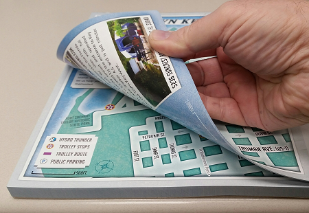 Map Printing Tear Off Pads Are A Very Convenient Way To Distribute Maps