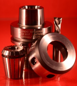 GUHDO HSK63F Tool Holder, Collet, Collet Nut, Router Bit