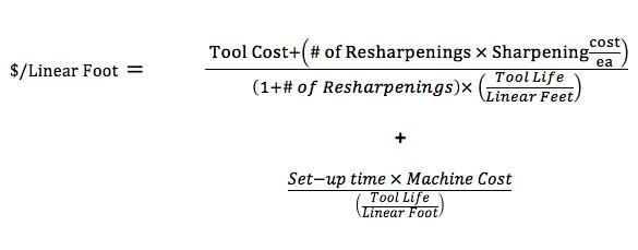 cost per linear foot formula
