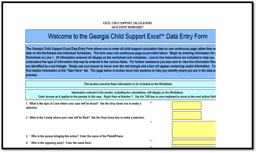 Complete Child Support Worksheet | Child Support Calculator ...