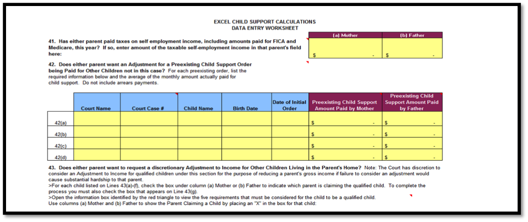 Complete Child Support Worksheet | Child Support Calculator