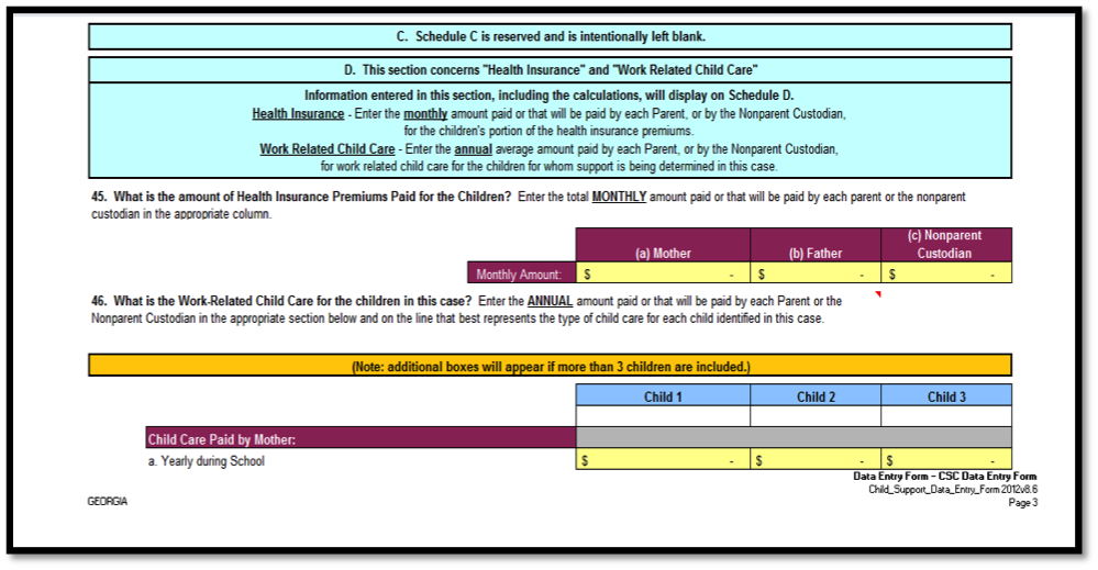 How to Complete a Child Support Worksheet