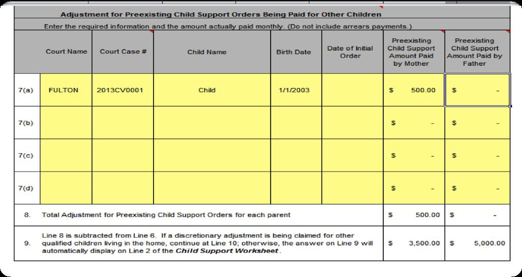 Schedule B Other Children Johns Creek Child Support Lawyer